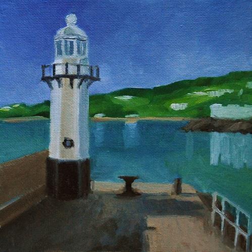 """""""Smeaton's Pier, St Ives"""" original fine art by J M Needham"""