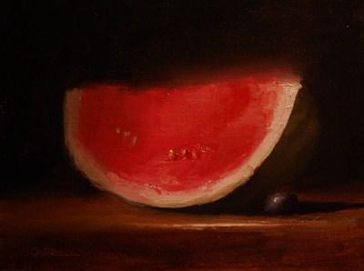 """""""Water Melon Slice"""" original fine art by Neil Carroll"""