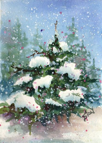 """O Tannenbaum"" original fine art by Sue Dion"