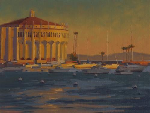"""""""Sunrise in Avalon"""" original fine art by John White"""
