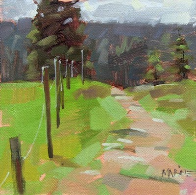 """Uphill Path"" original fine art by Carol Marine"