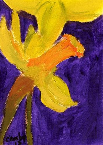 """Seasonal Bloom"" original fine art by Donna Crosby"