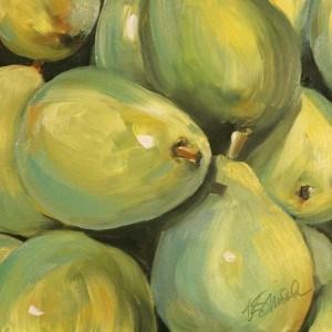 """pile of pears"" original fine art by Kim Smith"