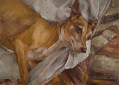 """40 - Italian Greyhound"" original fine art by Kathleen Coy"