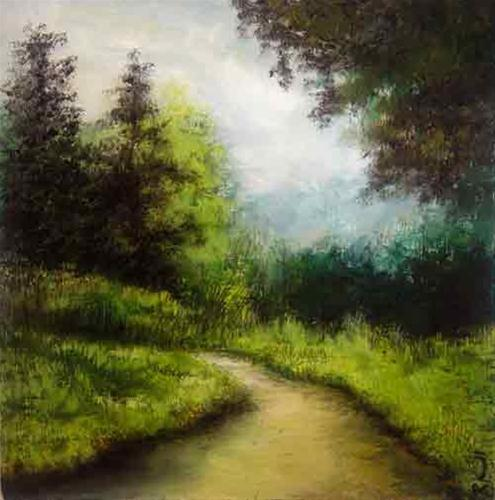 """Road to the Woods"" original fine art by Bob Kimball"