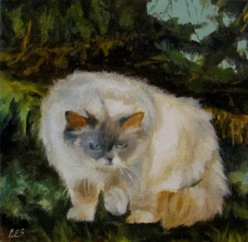 """Stalking Prey in the Cedars"" original fine art by ~ces~ Christine E. S. Code"