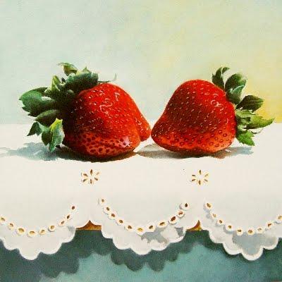 """""""The Kiss"""" original fine art by Jacqueline Gnott, whs"""