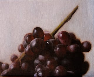 """Grapes"" original fine art by Jonathan Aller"