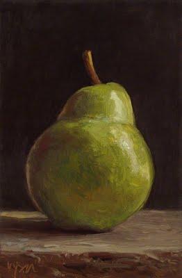 """Pear No. 7"" original fine art by Abbey Ryan"