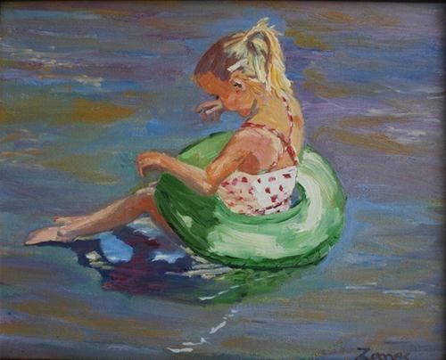 """Madeline at Bull Creek"" original fine art by Liz Zornes"
