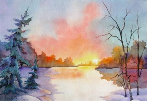 """Sunrise"" original fine art by Horst Berlow"