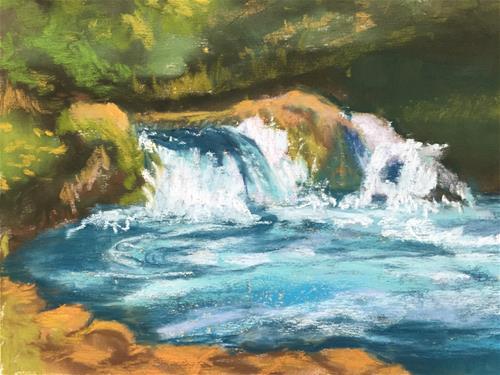 """Sahalie Falls"" original fine art by Mary Weil"