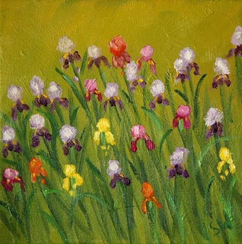 """Iris Garden"" original fine art by Sunny Williams"