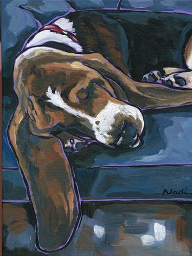 """14/52 Melissa's Basset"" original fine art by Nadi Spencer"