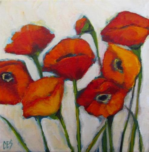 """""""Alla Prima Poppies"""" original fine art by ~ces~ Christine E. S. Code"""