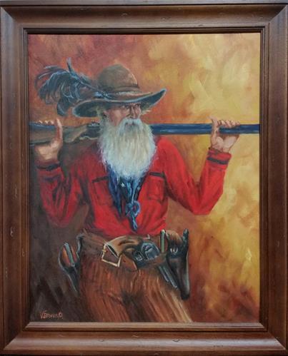 """Gunslinger"" original fine art by Veronica Brown"