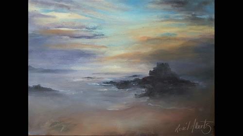 """SUNSET"" original fine art by Ronel Alberts"