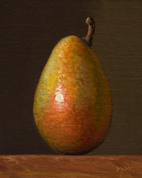 """""""D'Anjou Pear in Late Afternoon Light"""" original fine art by Abbey Ryan"""