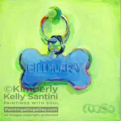 """Billmurray"" original fine art by Kimberly Santini"