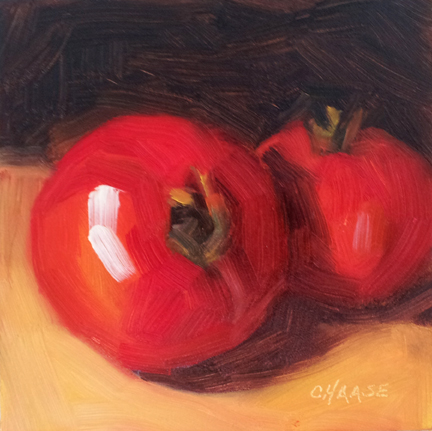 """Tricia's Garden Tomatoes"" original fine art by Cindy Haase"