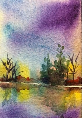 """Tiny Bayou #1"" original fine art by Lyn Gill"