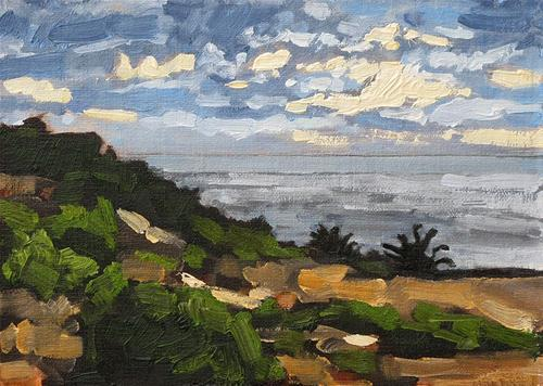 """Sunset Cliffs Plein Air"" original fine art by Kevin Inman"
