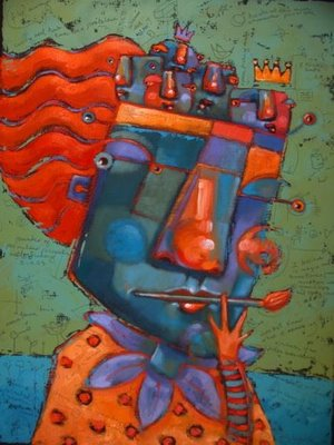 """Me, Myself And Them, a self portrait"" original fine art by Brenda York"