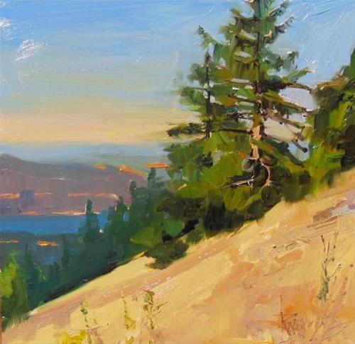 """San Juan Island View Moran state park, plein air painting by Robin Weiss"" original fine art by Robin Weiss"