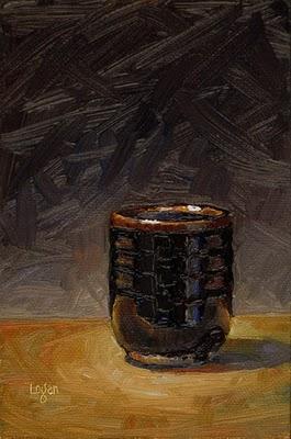 """Tea Bowl"" original fine art by Raymond Logan"