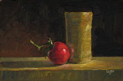 """Tomato and Bamboo Cup"" original fine art by Raymond Logan"
