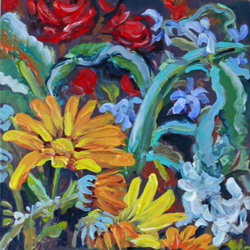 """Calendulas"" original fine art by Darlene Young"