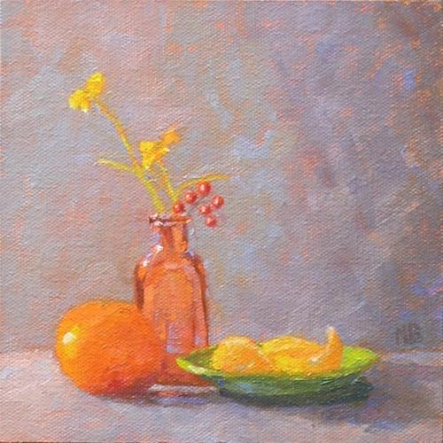 """Morning Oranges"" original fine art by Nina Brodsky"