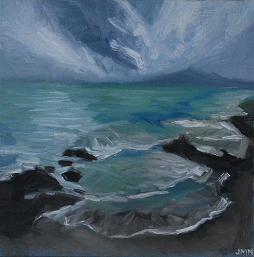 """Green Sea"" original fine art by J M Needham"