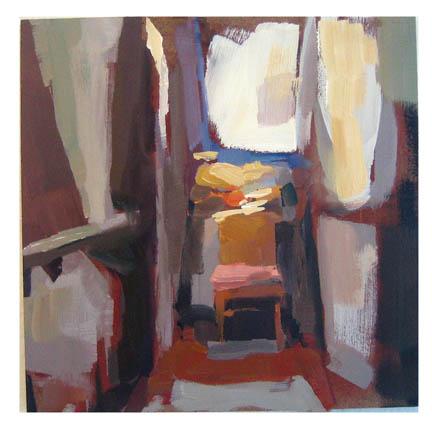 """#832 Reading Spot"" original fine art by Lisa Daria"