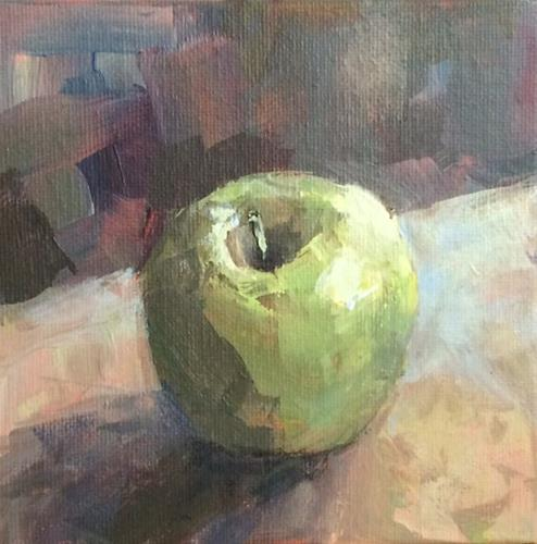 """Granny Smith No. 5"" original fine art by Shannon Bauer"