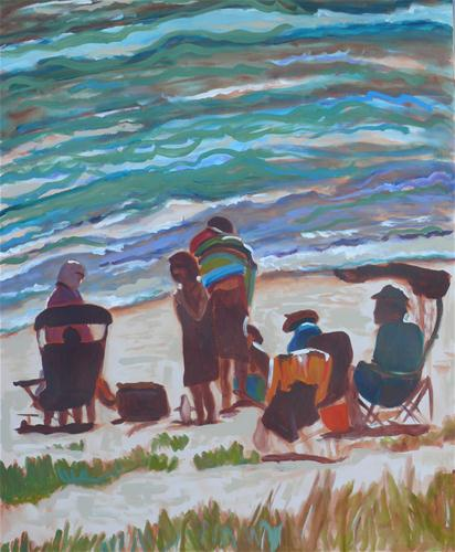 """Beach Evening"" original fine art by Darlene Young"