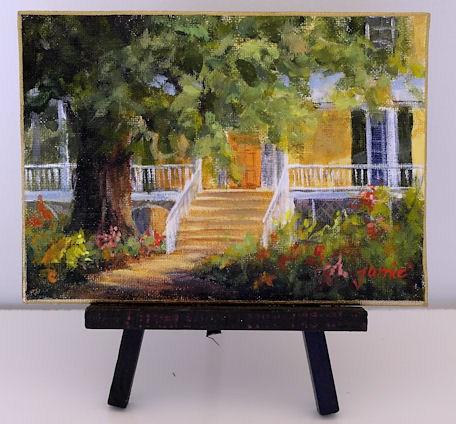 """Morning with Thomas Cole"" original fine art by Jamie Williams Grossman"