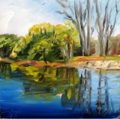 """Reflections"" original fine art by Debra Kennedy"