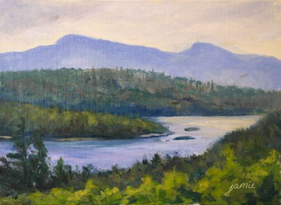 """Overcast Day at Sunset Rock"" original fine art by Jamie Williams Grossman"