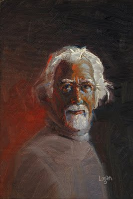 """Small Portrait"" original fine art by Raymond Logan"