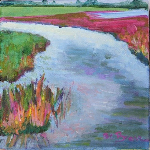 """Mini Marsh DPW Challenge"" original fine art by Beth Carrington Brown"