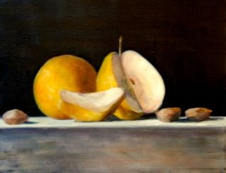 """Pears and Almonds"" original fine art by Christina Dowdy"