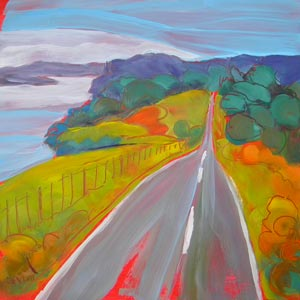 """Opito Bay Road, Kerikeri, New Zealand"" original fine art by Pam Van Londen"