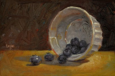 """Blueberries"" original fine art by Raymond Logan"