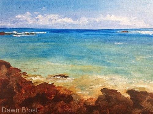 """""""Rocky Shore"""" original fine art by Dawn Brost"""