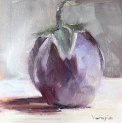 """still life with eggplant"" original fine art by Carrie Venezia"