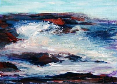 """3036 - SEA PUPPY - ACEO Series"" original fine art by Sea Dean"
