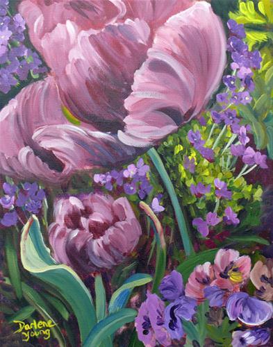 """Tulips"" original fine art by Darlene Young"