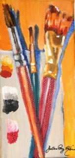 """Miles on the brush..."" original fine art by JoAnne Perez Robinson"