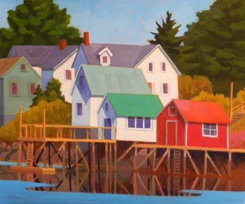 """My Dream of Maine"" original fine art by Bobbi Heath"